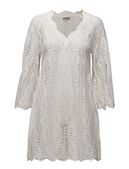 Lace A-Line Dress - VINTAGE WHITE