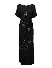 Maxi Dress Beaded - Beading - 099 BLACK