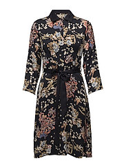 Button-Up Dress - Block Dresses - 703 BLOSSOMS MARINE