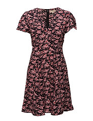 50's Dress - Dresses - 669 PINK BUTTERFLY