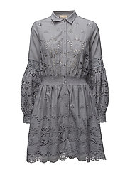 Dress - Broderie Anglaise - 056 DUSTY BLUE