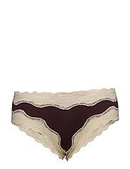 Lace Panties - BURGUNDY