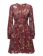 Semi Couture Bell Sleeve Dress - CALIFORNIA RED