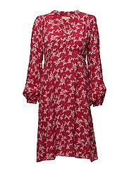 Empire Dress - RED STRAWS