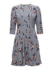 Day Dress - PURPLE FLOWERS