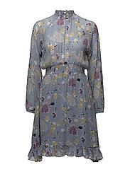 Semi Couture Smocking Dress - CALIFORNIA BLUE