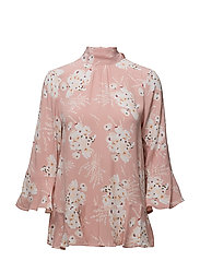 Flounce Tie Blouse - FRENCH BOUQUET PINK