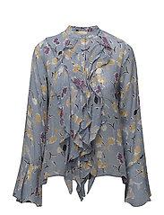 Semi Couture Ruffle Blouse - CALIFORNIA BLUE