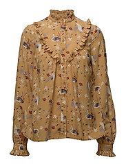 By Ti Mo - Bohemian Ruffle Shirt