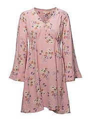 Flared Sleeve Dress - 375 PRIMROSE PINK