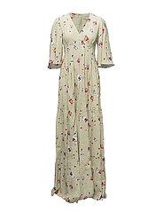 Flared Gown - 374 VALENTINA PISTACHIO