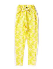 Jacquard sweat pants - lemon yellow
