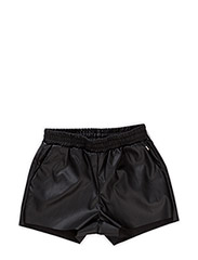 Fake leather shorts - BLACK