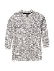 Bubble knit cardigan - WHITE