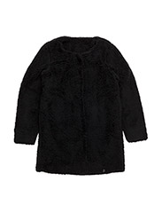 Teddy cardigan - BLACK