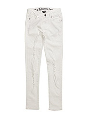 LACE jeans - WHITE DENIM