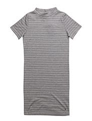 Dress w/ turtleneck - LIGHT GREY MELANGé