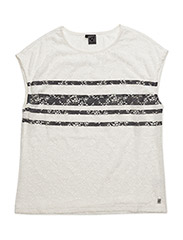 Lace tee s/s - OFF WHITE