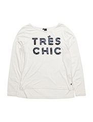 Sequins tee l/s - OFF WHITE