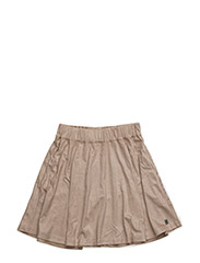 Fake suede skirt - SAND