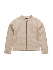Fake leather jacket - SAND