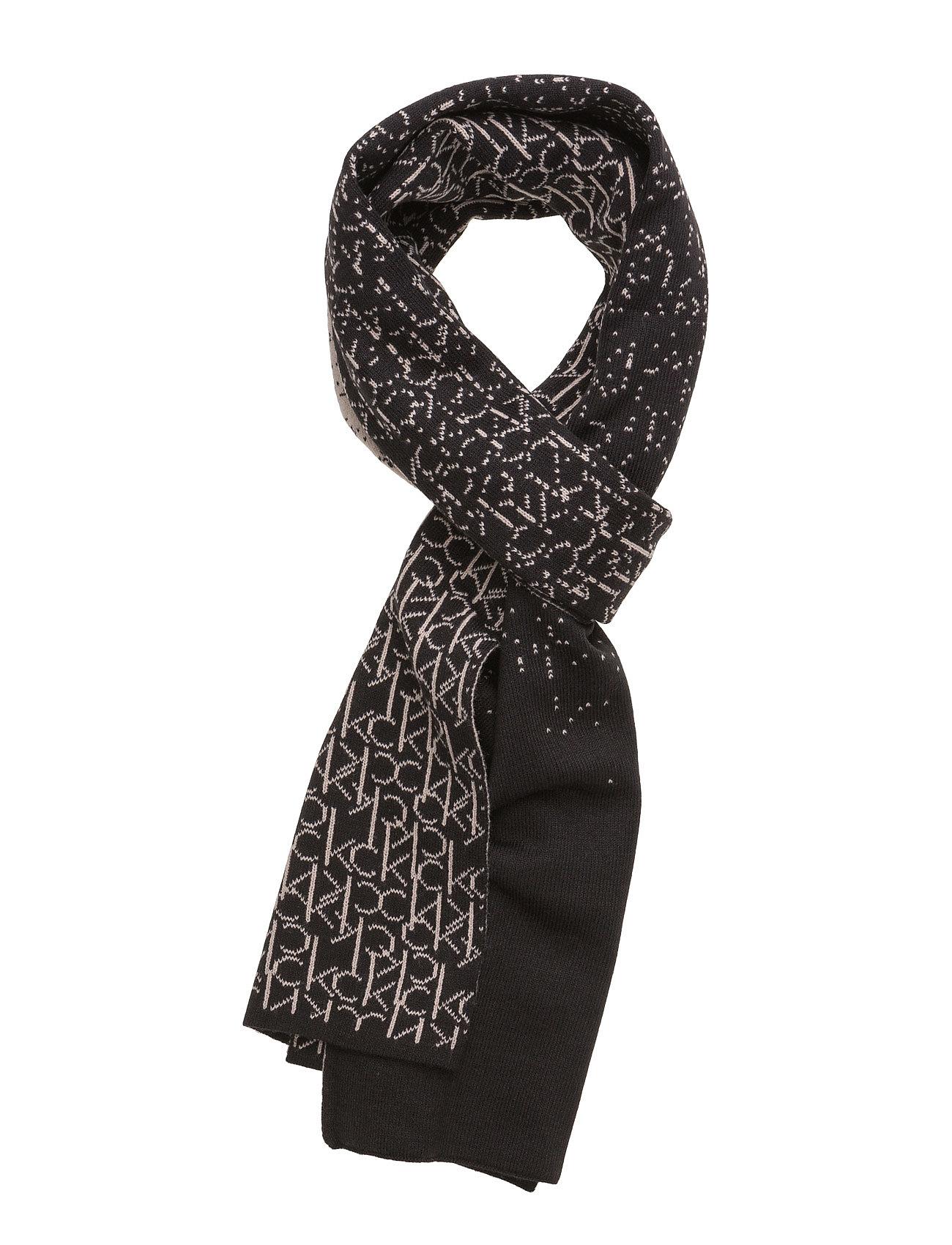 Logo Scarf 001, Os Calvin Klein Jeans Halstørklæder til Damer i Sort