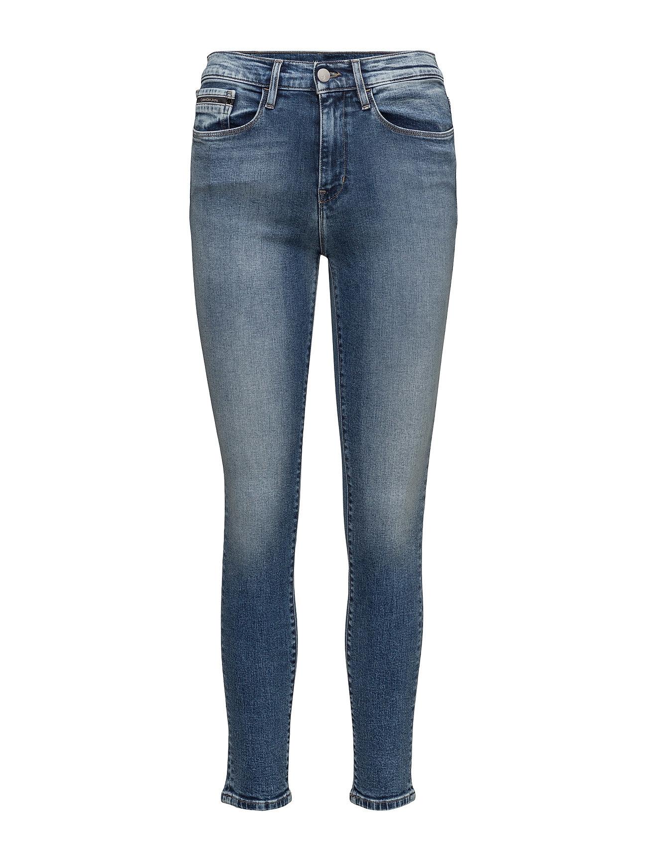 calvin klein jeans High rise skinny - w fra boozt.com dk