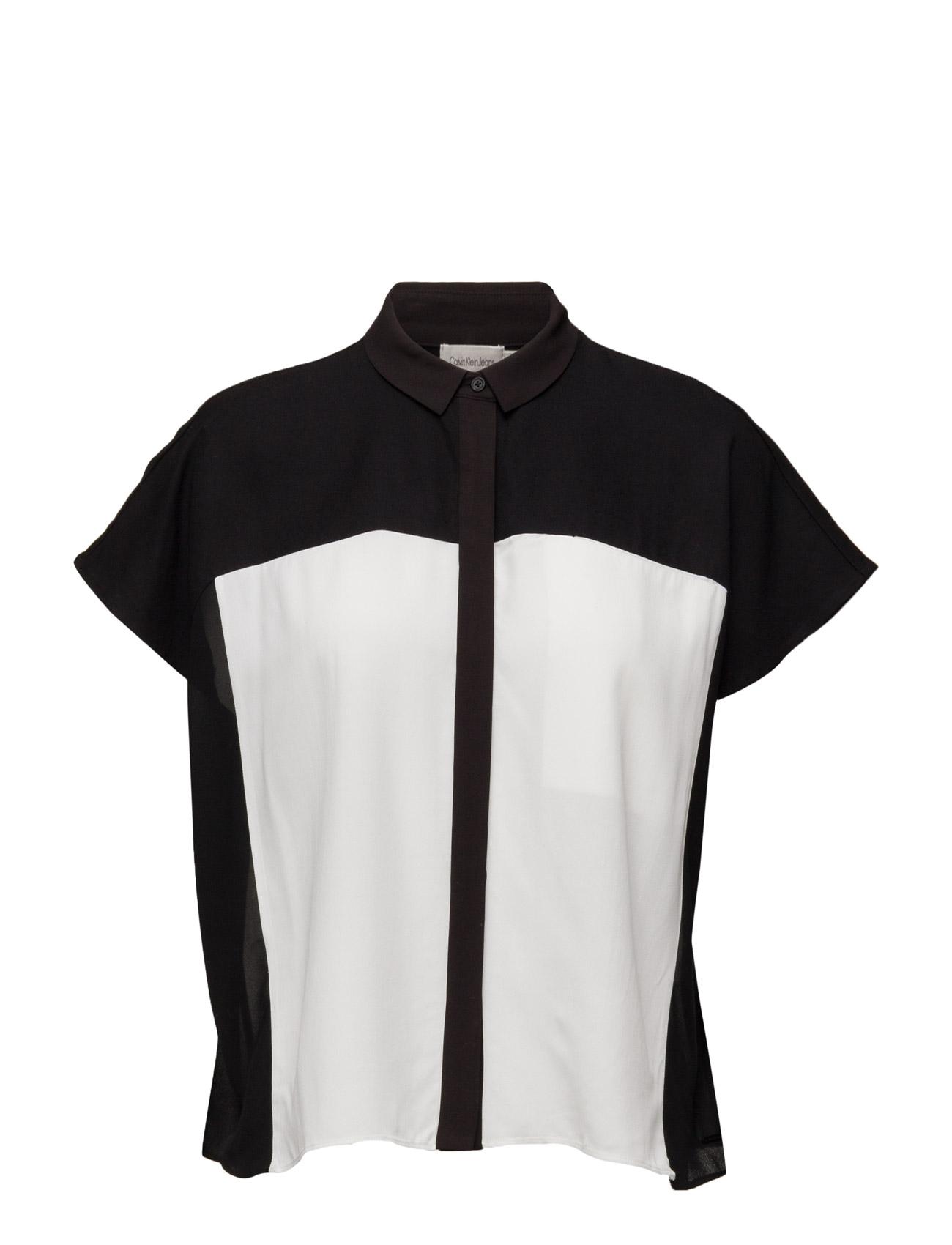 Ethna Woven Top N/S Calvin Klein Jeans Kortærmede til Kvinder i Sort