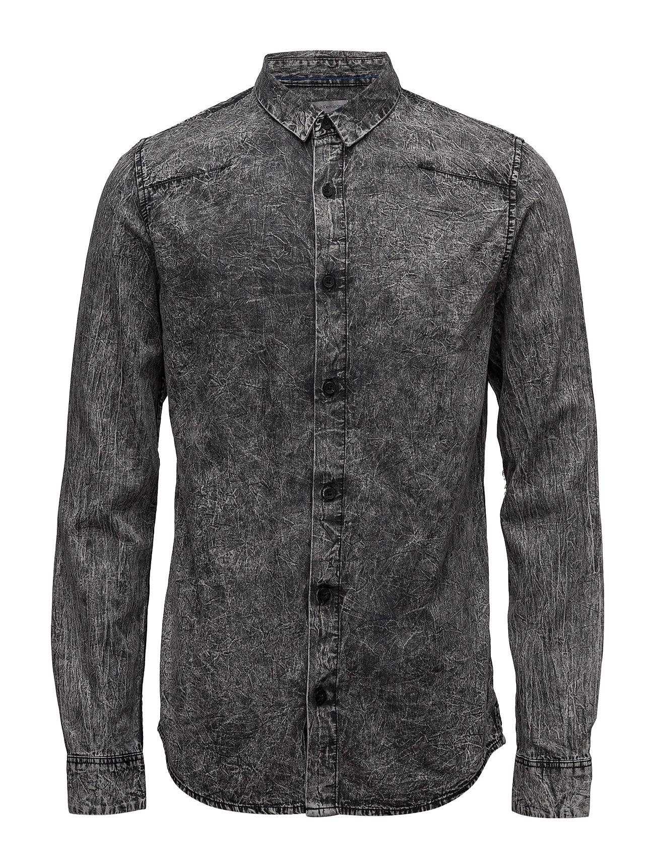 Wavy 2 Bd Indigo Shirt Ls Calvin Klein Jeans Casual sko til Mænd i Sort