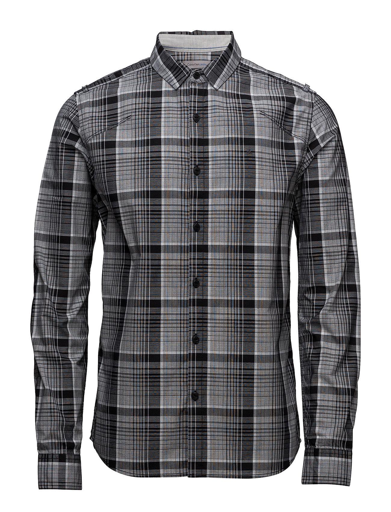 Wonder Check Shirt L Calvin Klein Jeans Casual sko til Mænd i ck Black