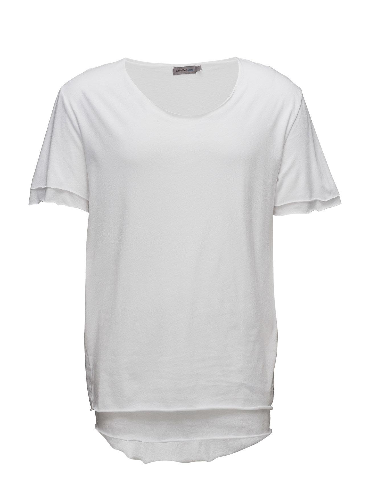 Ub009 Raw Edge Doubl Calvin Klein Jeans Kortærmede til Mænd i