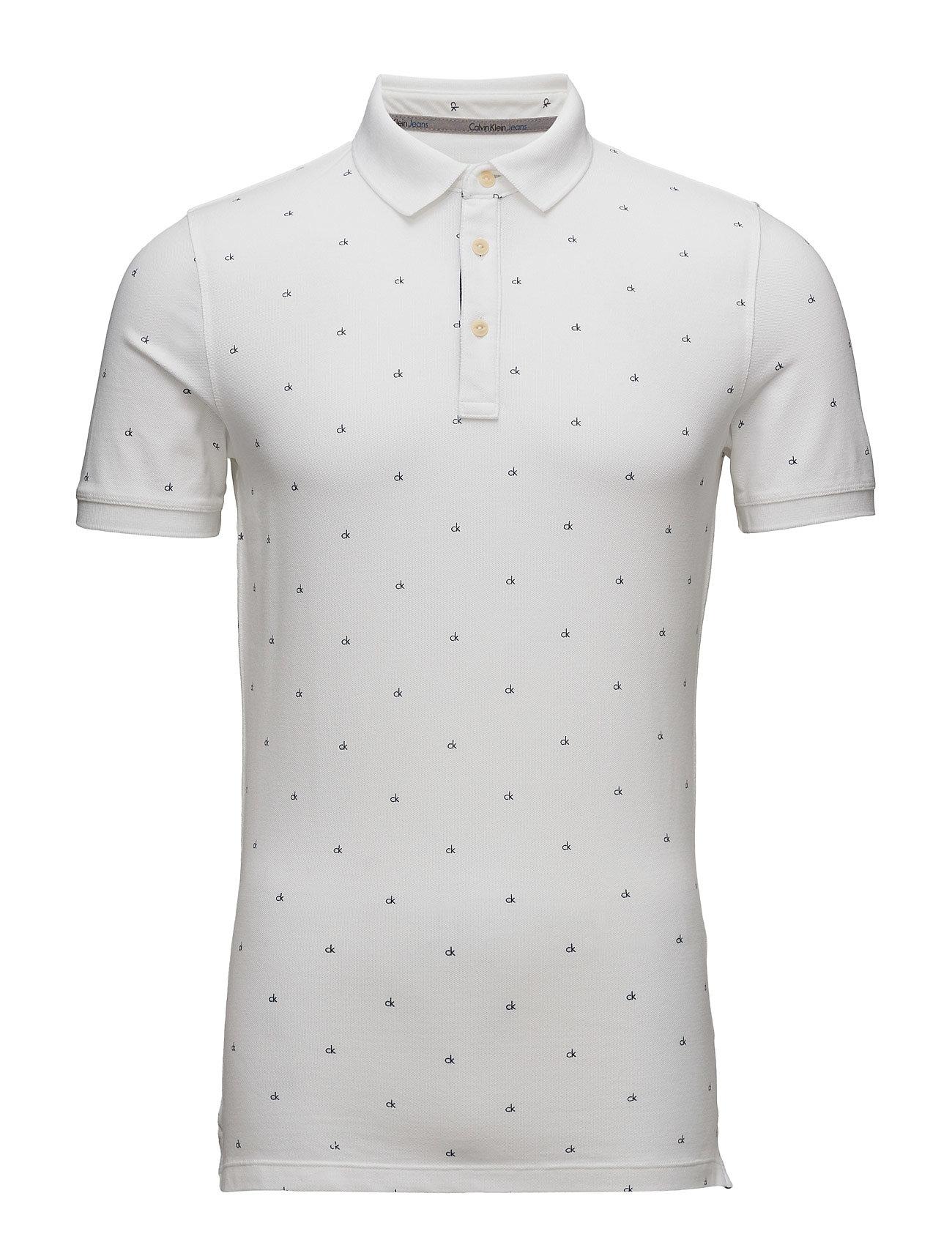 Pertol 3 Slim Fit Po Calvin Klein Jeans Kortærmede polo t-shirts til Herrer i Bright White