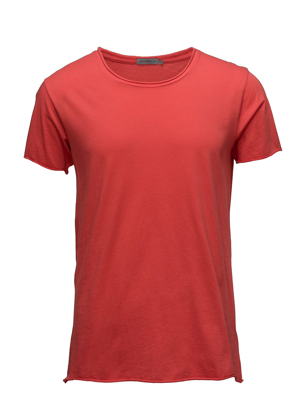 Tex 2 Cn Tee S/S, 11 Calvin Klein Jeans T-shirts til Mænd i Fiery Red