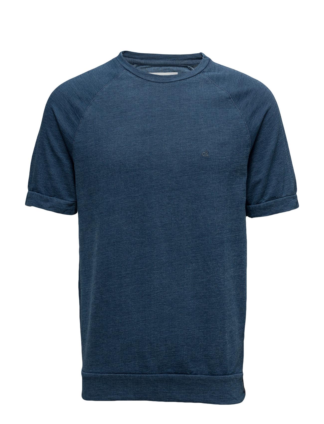 Jenron Cn Hknit S/S Calvin Klein Jeans Kortærmede til Mænd i Blå