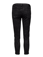 Mid Rise Skinny Embr