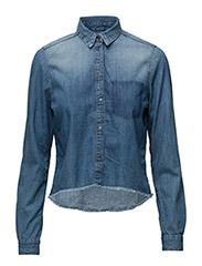 Boy High Low Shirt - - SPLATTERED BLUE