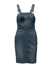 Dungaree Dress - Uni - UNIVERSE BLUE