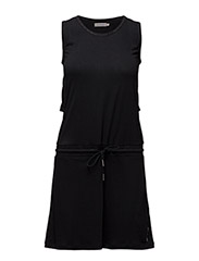 DIABOLO CN LWK S/L DRESS - CK BLACK