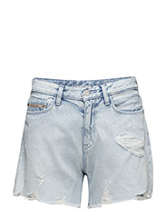 Cut Off Midi Short - - VINTAGE SPLATTER