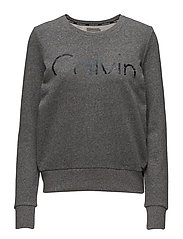 HADAR CK LOGO CN LS, - BLACK HEATHER