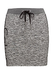 KERI HWK LOGO SHORT, - BLACK HEATHER
