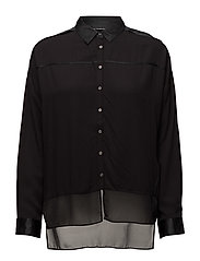 WRAI SILK MM SHIRT L - CK BLACK
