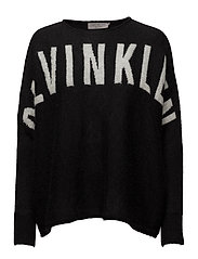 SARI BN SWEATER LS, - CK BLACK / EGRET