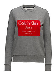 HANSI CN HWK L/S, 50 - MID GREY HEATHER