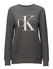 CREW NECK HWK TRUE I - BLACK HEATHER