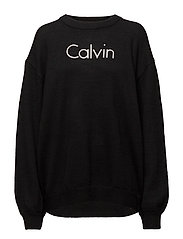 SIENNA CN LOGO SWEAT - CK BLACK