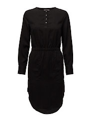 DARCY SHIRT DRESS LS - CK BLACK