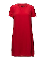 DOMENICA TEE DRESS S - TANGO RED