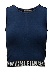 SEAMLESS KNIT TOP, 4 - INDIGO