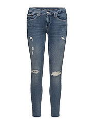 Mid Rise Skinny Ankle Raw- Thermal - THERMAL